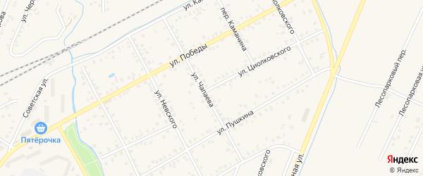 Улица Циолковского на карте Янаула с номерами домов