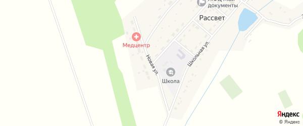 Новая улица на карте села Рассвета с номерами домов