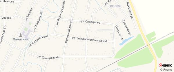 Переулок Тимирязева на карте Янаула с номерами домов