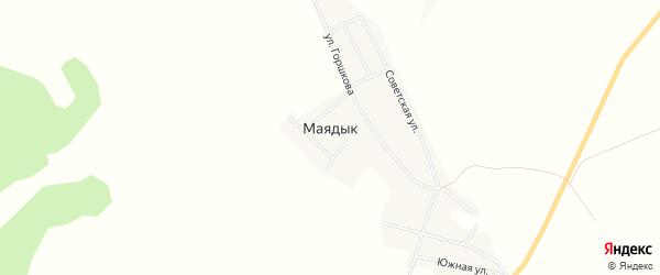 Карта села Маядык в Башкортостане с улицами и номерами домов