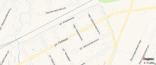 Переулок Каманина на карте Янаула с номерами домов