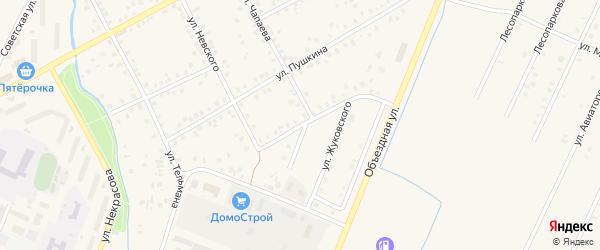 Улица Жуковского на карте Янаула с номерами домов
