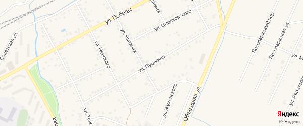 Улица Пушкина на карте Янаула с номерами домов