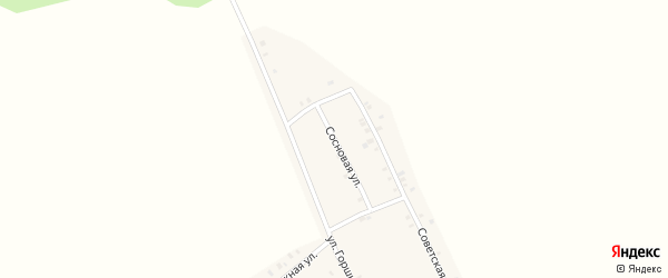 Сосновая улица на карте села Маядык с номерами домов
