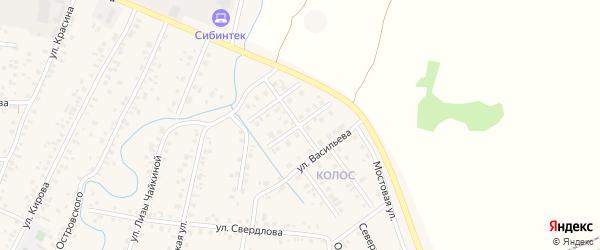 Новомостовая улица на карте Янаула с номерами домов