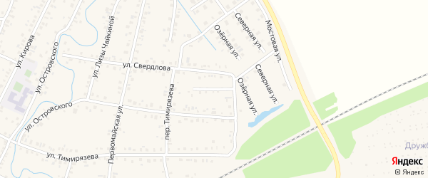 Переулок Свердлова на карте Янаула с номерами домов