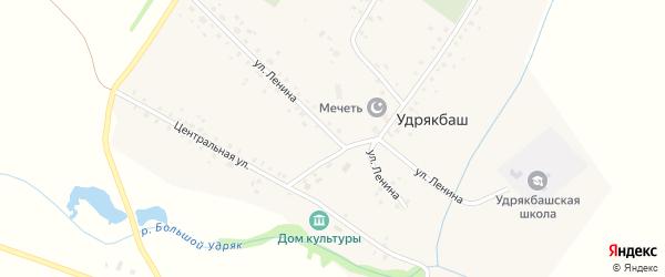 Улица Ленина на карте села Удрякбаша с номерами домов