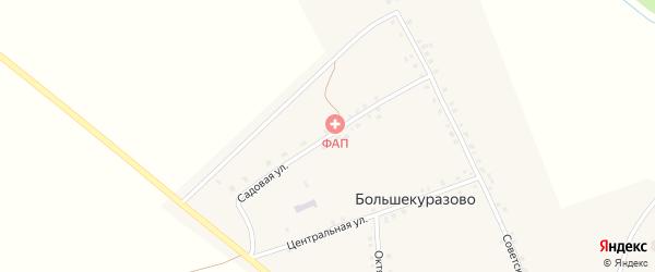 Садовая улица на карте деревни Большекуразово с номерами домов