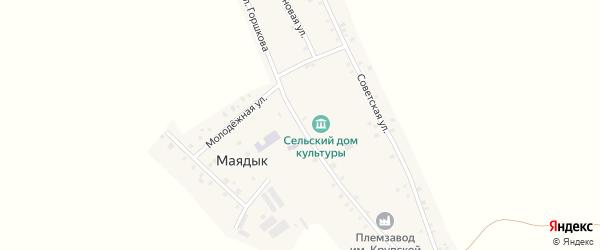 Улица Горшкова на карте села Маядык с номерами домов