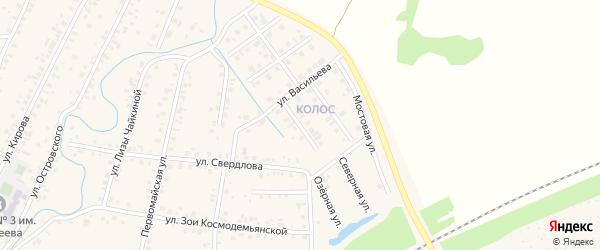 Озерная улица на карте Янаула с номерами домов