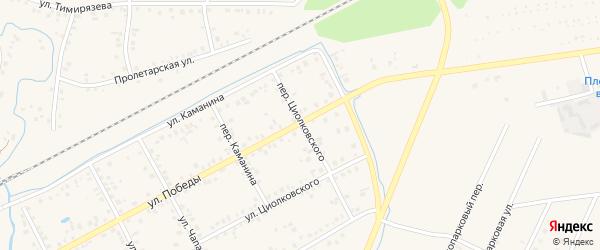 Переулок Циолковского на карте Янаула с номерами домов