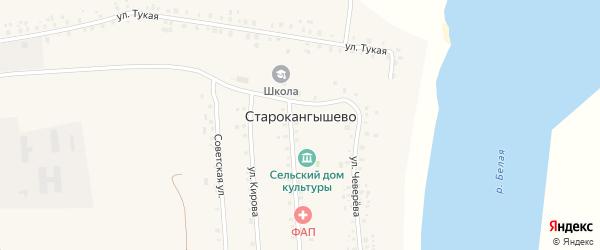 Советская улица на карте села Старокангышево с номерами домов