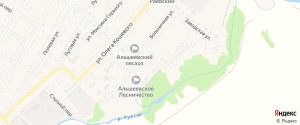 Улица Нефтяников на карте села Раевского с номерами домов