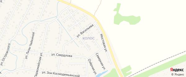 Северная улица на карте Янаула с номерами домов