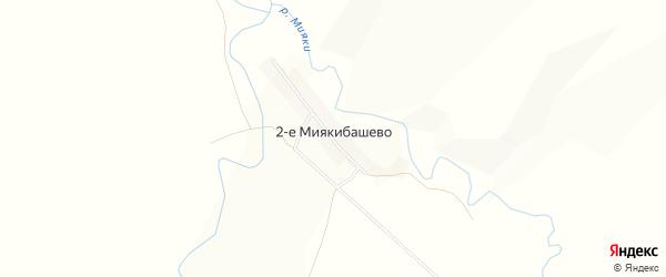 Карта деревни 2-е Миякибашево в Башкортостане с улицами и номерами домов