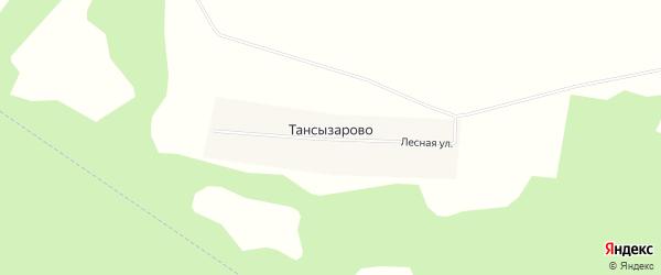 Карта деревни Тансызарово в Башкортостане с улицами и номерами домов