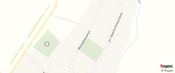 Молодежная улица на карте села Удрякбаша с номерами домов