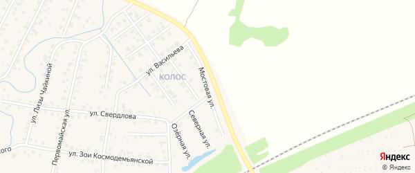 Мостовая улица на карте Янаула с номерами домов