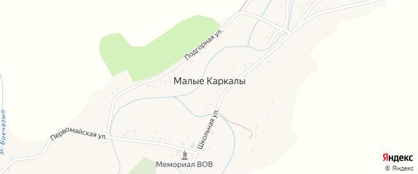 Подгорная улица на карте села Малые Каркалы с номерами домов