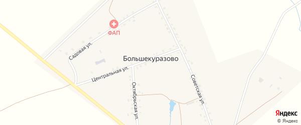 Советская улица на карте деревни Большекуразово с номерами домов