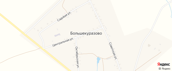Октябрьская улица на карте деревни Большекуразово с номерами домов