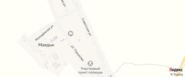 Советская улица на карте села Маядык с номерами домов