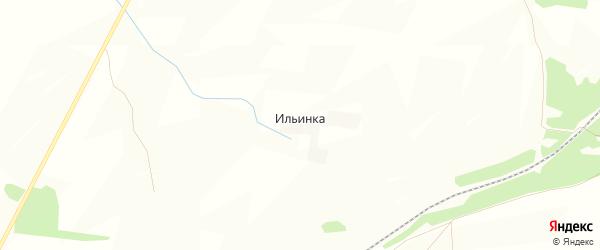 Карта деревни Ильинки в Башкортостане с улицами и номерами домов