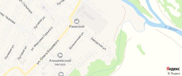 Заводская улица на карте села Раевского с номерами домов