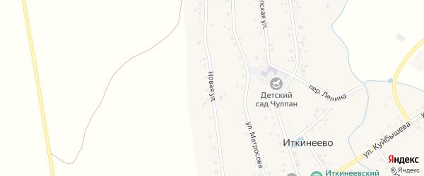 Новая улица на карте села Иткинеево с номерами домов