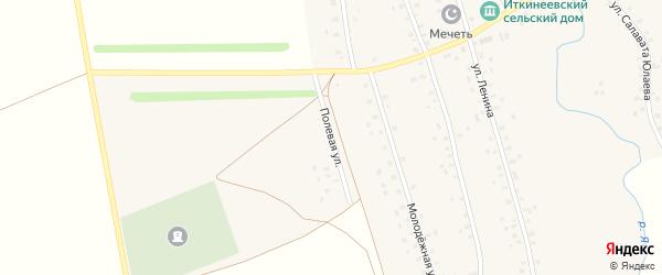 Полевая улица на карте села Иткинеево с номерами домов