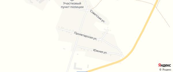 Пролетарская улица на карте села Маядык с номерами домов