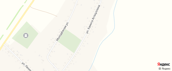 Улица Хамита Аглиуллина на карте села Удрякбаша с номерами домов