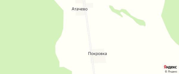 Полевая улица на карте деревни Атачево с номерами домов