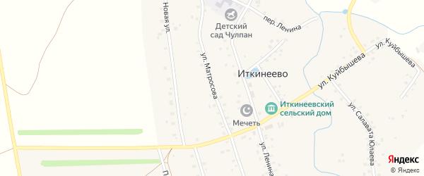 Улица Матросова на карте села Иткинеево с номерами домов