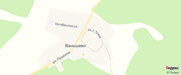 Г.Тукая улица на карте деревни Ванышево с номерами домов