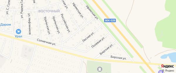 Лесная улица на карте Янаула с номерами домов