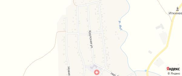 Крупская улица на карте села Иткинеево с номерами домов