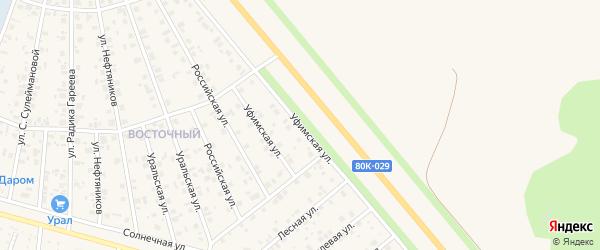 Уфимская улица на карте Янаула с номерами домов