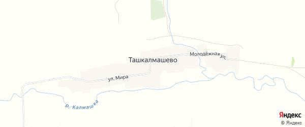 Карта села Ташкалмашево в Башкортостане с улицами и номерами домов