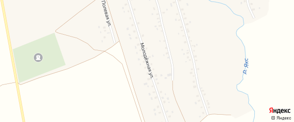 Молодежная улица на карте села Иткинеево с номерами домов