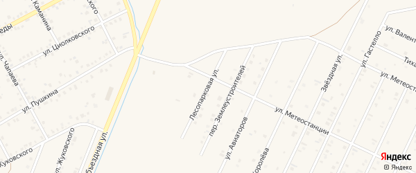 Лесопарковая улица на карте Янаула с номерами домов