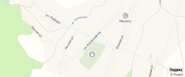 Улица Космонавтов на карте села Анясево с номерами домов