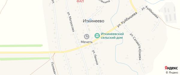 Улица Ленина на карте села Иткинеево с номерами домов