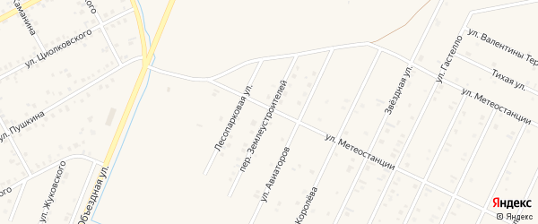 Переулок Землеустроителей на карте Янаула с номерами домов