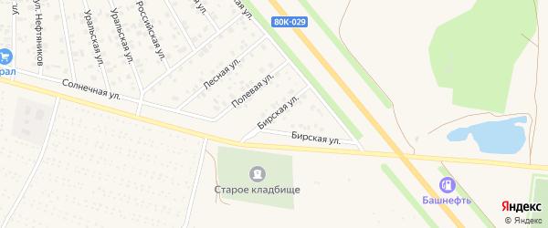 Бирская улица на карте Янаула с номерами домов