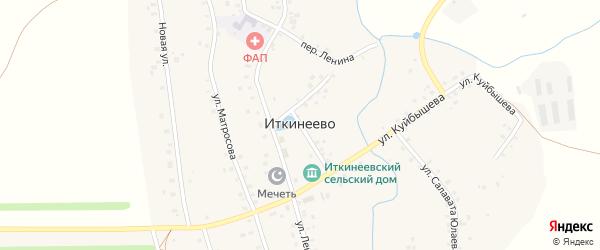 Переулок Куйбышева на карте села Иткинеево с номерами домов