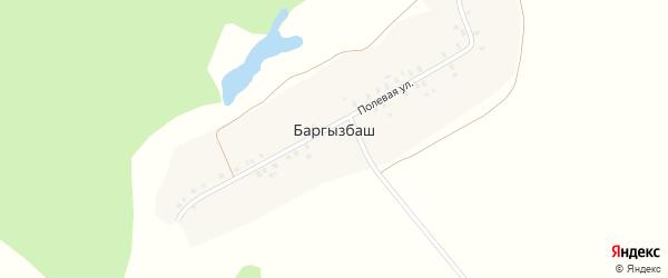 Полевая улица на карте деревни Баргызбаша с номерами домов