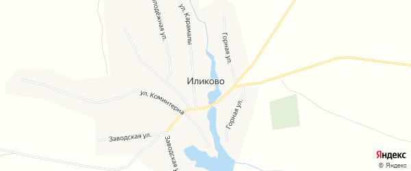 Карта села Иликово в Башкортостане с улицами и номерами домов