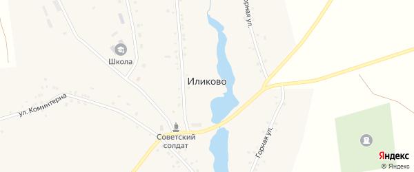 Горная улица на карте села Иликово с номерами домов