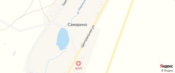Центральная улица на карте села Самарино с номерами домов
